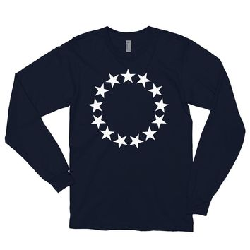 Betsy Ross 13 Stars Made in the USA Long Sleeve T-Shirt