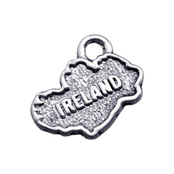 Minimal 20pcs Ireland Metal Country Map Series Charms for Neckalce/Bracelets Jewelry Making