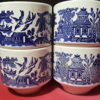 Churchill Classic Blue Willow Tea Cup of England - Asian Oriental Design Teacup