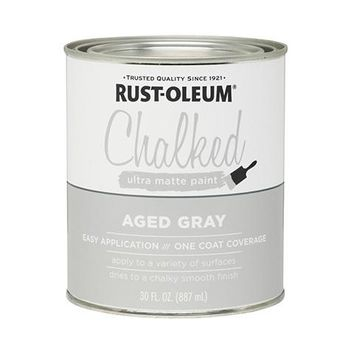 Rust-Oleum® 285143 Chalked Ultra Matte Paint, 30 Oz, Aged Gray