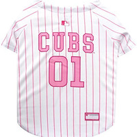 Pets First MLB Chicago Cubs Dog Jersey, X-Small, Pink