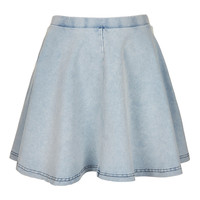 Petite Denim Look Skater Skirt