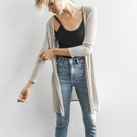 Luna Cardigan - Oatmeal Rib – Joah Brown