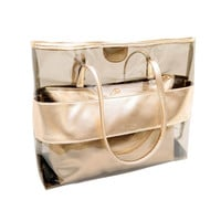 Shoulder Large Bag Woman Purse Clear Jelly Tote Transparent Attractive Beach Handbag