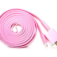 Pink iPhone 5/5s/5c Charger - 3m/10ft iPhone 5/5s/5c Cable and Plug