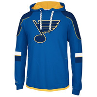 Reebok St. Louis Blues Faceoff Edge Team Jersey Pullover Hoodie - Royal Blue