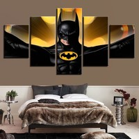 Batman Movie 5 panel wall art on canvas framed unframed home picture