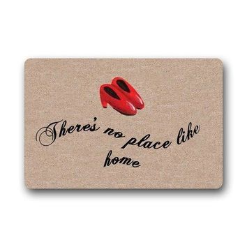 There's No Place Like Home Red Shoes Welcome Doormats / Door Mat