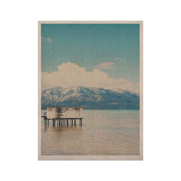 "Laura Evans ""Down By The Lake"" Blue Brown KESS Naturals Canvas (Frame not Included)"