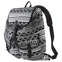 Mossimo Supply Co. Drawstring Backpack Handbag - Black/White
