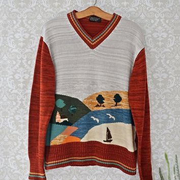 Vintage 1970s Seasonal Medley + V-Neck Sweater