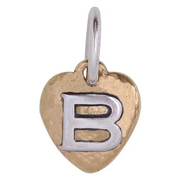 "Waxing Poetic Heartswell Insignia Letter ""B"" Charm"