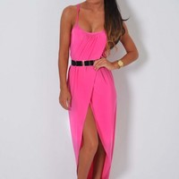 Dolce Vita Pink Draped Wrap Maxi Dress Pink Boutique | Pink Boutique