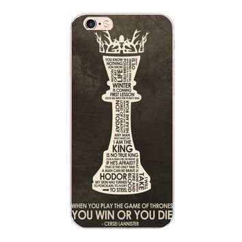 Game of Thrones Poster plastic hard case For iphone 7 6s 6 plus 5s 5c 5 SE 4s phone cover For Samsung s7 s6 edge s5 s3 s4 i9500