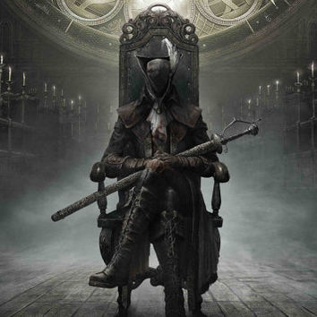 "Bloodborne The Old Hunters 37"" Silk Poster"
