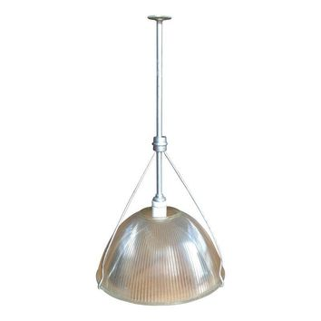 Pre-owned Mid-Century Modern Holophane Industrial Chandelier