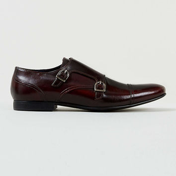 Hardy Monk Burgundy Leather Hi Shine Shoes - Casual Shoes - Shoes and Accessories - TOPMAN