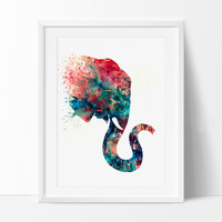 Elephant Art Print, Watercolor Art, Elephant Print, Elephant Watercolor Wall Decor (74)