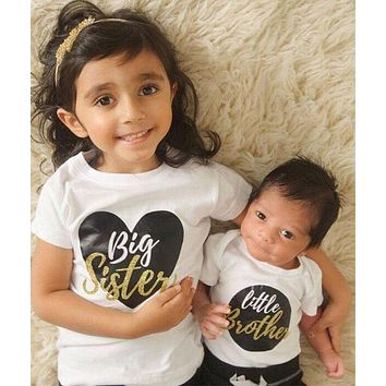 Big Sister Little Brother Matching T-shirts and Onsie