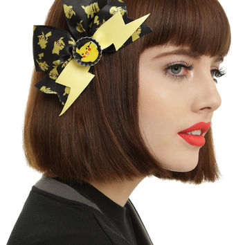 Pokemon Pikachu Cheer Hair Bow