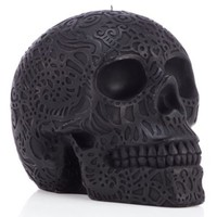Raven Carved Skull Candle | Candles & Home Fragrance | Home Accents | Decor | Z Gallerie
