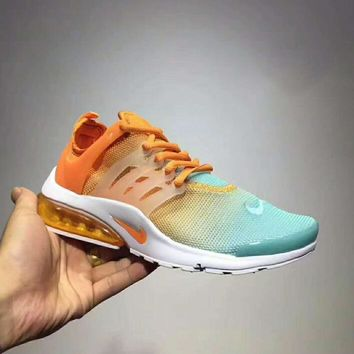 Day-First™ Nike Air Presto Ultra Flyknit Women Running Sport Casual Shoes Sneakers Orange blue I-CSXY