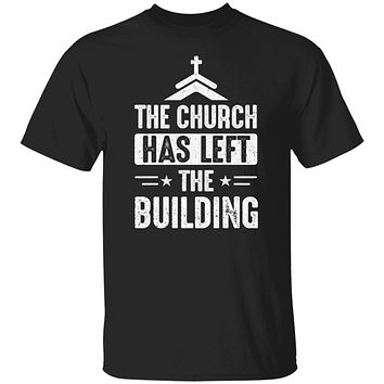The Church Has Left The Building Graphic Design Gifts