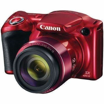 Canon 20.0-megapixel Powershot Sx420 Is Digital Camera (red) (pack of 1 Ea)