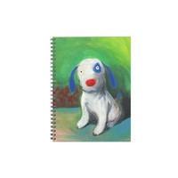 cute funny puppy painting I didn't do it Note Book from Zazzle.com