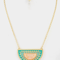 Venetia Half Moon Necklace