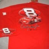 Dale Earnhardt Jr #8 BUD Chevy on a Red Extra Large (XL) new tee shirt w/free sh