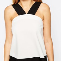 ASOS Thick Strap Cami Top In Colour Block