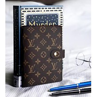 LV Louis Vuitton Popular Women Men Retro Notebook Portable Hand Book