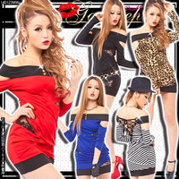 【S~L】Sexy gal Trombone☆Race switching back and race UP dress fascinated chiller