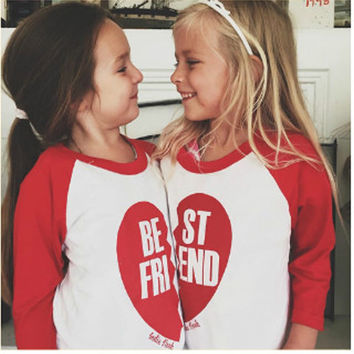Family Look T-Shirt Boy Girl Long Sleeve Tops Tees Best Friend Clothes Family Matching Outfits For Kid New Baby Children T-Shirt