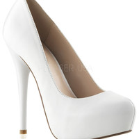 Gorgeous White Patent Leather Heels