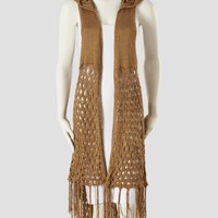 Sioni Studio Crochet Hooded Long Vest - Women | Stein Mart
