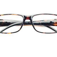 Clear Lenses Rectangular Glasses in Tortoise T082 | FREYRS - Sunglasses at Affordable Prices
