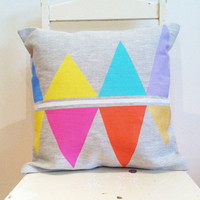 Bright Reflections - Cover only - Wildly comfortably throw cushion in pastel rainbow, for your home.