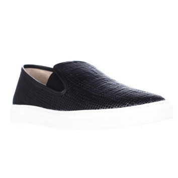 Vince Camuto Becker Woven Casual Slip On Skeakers - Black