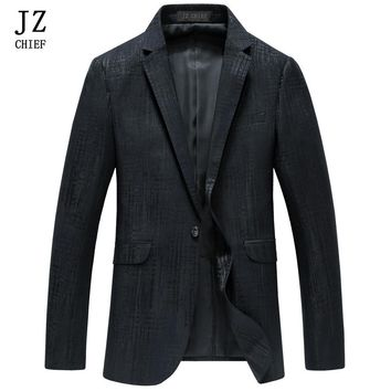 JZ CHIEF blazer Men Velvet Blazer Coat Slim Fit