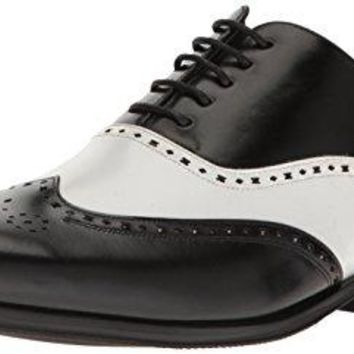 Stacy Adams Men's Stockwell-Wingtip Oxford, Black/Amp/White, 9 M US