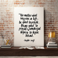 Taylor swift quote for Fashion print, Fashion wall art for girls room decor, large fashion art, inspirational quote