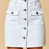 MinkPink Sugar Safari Denim Skirt at PacSun.com