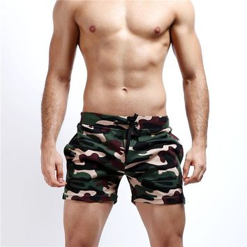 Men Camo Beach Swimming Trunks