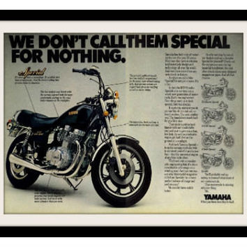 "1979 Yamaha XS Special Motorcycle Ad ""Custom Group"" Vintage Advertisement Print"