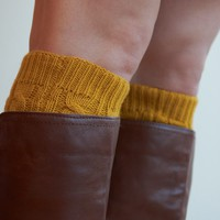 Cable Knit Boot Cuffs - 6 Colors!