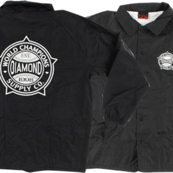 Diamond World Renowned Coaches Jacket XL Black