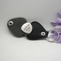 Personalized Guitar Pick - Father's Day Gift - Handstamped Guitar Pick - Aluminum Pick - Mens Gift - Custom Guitar Pick - Pick with Case