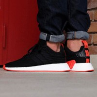 Best Online Sale Adidas NMD R2 PK Core Black/Core Black Boost Sport Running Shoes Classic Casual Shoes Sneakers
